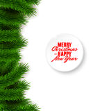 Christmas background, fir branches Stock Images