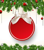 Christmas background with fir branches and ball. Stock Images