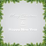 Christmas background with fir branches. Vector illustration Stock Images