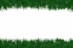 Christmas background with fir branches. Frame with christmas tree branches for decorating greeting cards, banners. And flyers. Vector Royalty Free Stock Images