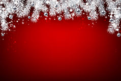 Christmas background with fir branches. Stock Images