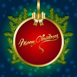 Christmas background with fir branches and snow. Vector illustration Royalty Free Stock Images