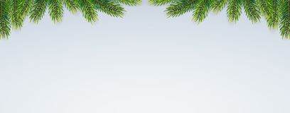 Christmas background with fir branches. Vector illustration Royalty Free Stock Photography