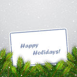 Christmas background with fir branches. Vector illustration Stock Photos