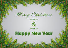 Christmas background with fir branches Stock Photography