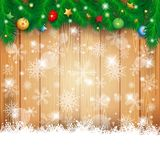 Christmas background with fir and copy space Royalty Free Stock Image