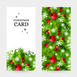 Christmas background with fir and holly decorations Royalty Free Stock Photography