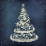 Christmas. Background with a fir and snowflakes Stock Photography