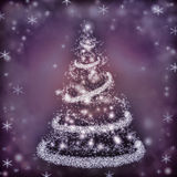 Christmas. Background with a fir and snowflakes Royalty Free Stock Photography