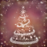 Christmas. Background with a fir and snowflakes Royalty Free Stock Photos