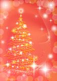 Christmas background with fir tree Stock Photos