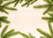 Christmas background with fir tree branches Royalty Free Stock Photography
