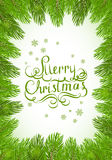 Christmas background with fir tree brunches Royalty Free Stock Photos