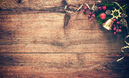 Christmas background with fir tree and decoration Royalty Free Stock Photography