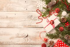 Christmas background with fir tree Royalty Free Stock Photography