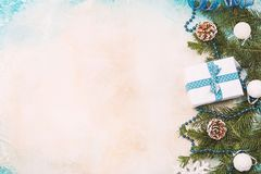 Christmas background with fir tree Stock Photography