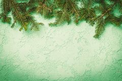 Christmas background with fir tree Royalty Free Stock Photo