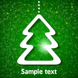 Christmas background with fir-tree. Vector illustration for your design Stock Photography