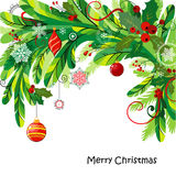 Christmas background with fir twigs Royalty Free Stock Photos