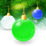 Christmas background with fir twigs and christmas. Balls. Vector illustration. EPS 10 Stock Images