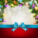 Christmas background with fir twigs. EPS 10 Stock Photography
