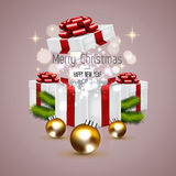 Christmas background with fir twigs Royalty Free Stock Images