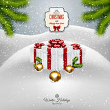 Christmas background with fir twigs Royalty Free Stock Photo