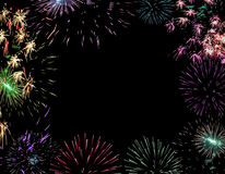 Christmas  background firework  lights  pyrotechnic Royalty Free Stock Photos