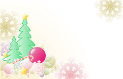 Christmas background with firs Stock Photos