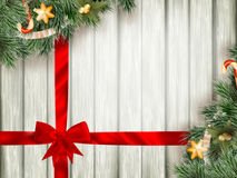 Christmas background with firt-ree.  Stock Images