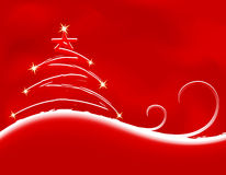 Christmas background with firtree Stock Photo