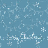 Christmas background with flags Stock Photos