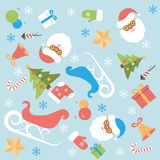 Christmas background flat design Stock Photography