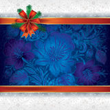 Christmas background with floral ornament Royalty Free Stock Photos