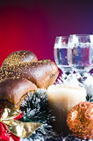 Christmas background with food Royalty Free Stock Photo