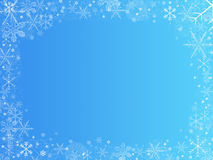 Christmas background frame. With gradient blue background Stock Image