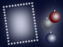 Christmas background with frame Royalty Free Stock Photos