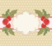 Christmas background with a frame. Royalty Free Stock Image
