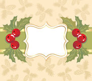 Christmas background with a frame. Stock Photo
