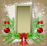 Christmas background with frame Stock Images