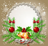 Christmas background with frame Royalty Free Stock Images