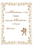 Christmas background with frame for congratulation. Festive greetings Merry Christmas background with winter ornament best abstract design  illustration Stock Photos