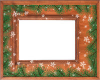 Christmas background with frame Royalty Free Stock Photo