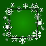 Christmas background. Frame made of snowflakes with space for text. Christmas background. Frame made of snowflakes Stock Image