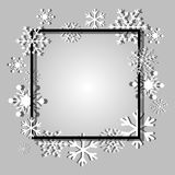 Christmas background. Frame made of snowflakes with space for text. Christmas background. Frame made of snowflakes Stock Photography