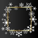 Christmas background. Frame made of snowflakes with space for text. Christmas background. Frame made of snowflakes Stock Images