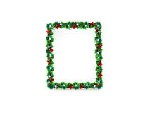 Christmas background. Christmas frame background with mistletoe Stock Photography