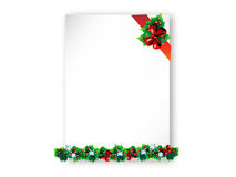 Christmas background. Christmas frame background with mistletoe Stock Images