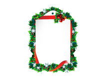 Christmas background. Christmas frame background with mistletoe Stock Photos