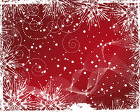 Christmas background with frame of snowflakes Stock Images